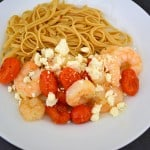 Garlic Shrimp with Blistered Tomatoes {Recipe -emeals}