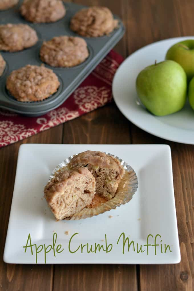 Did you pick apples yet this season?  These apple crumb muffins use fresh apples.  This is a great muffin recipe to use your apple supply.