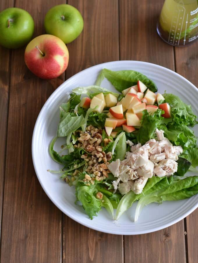 Apple Walnut Salad with Apple Rosemary Vinaigrette