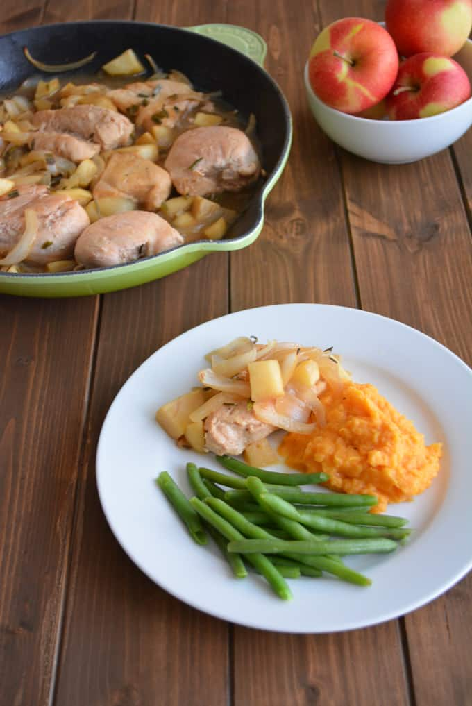 Apple Chicken is a perfect easy to make Fall recipe that uses freshly harvested apples and apple cider.