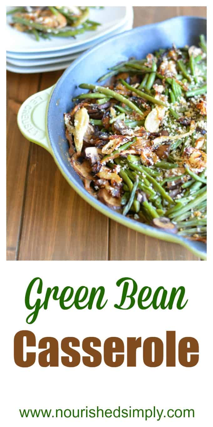 Green Bean Casserole is a classic holiday side dish. This version is made from scratch.