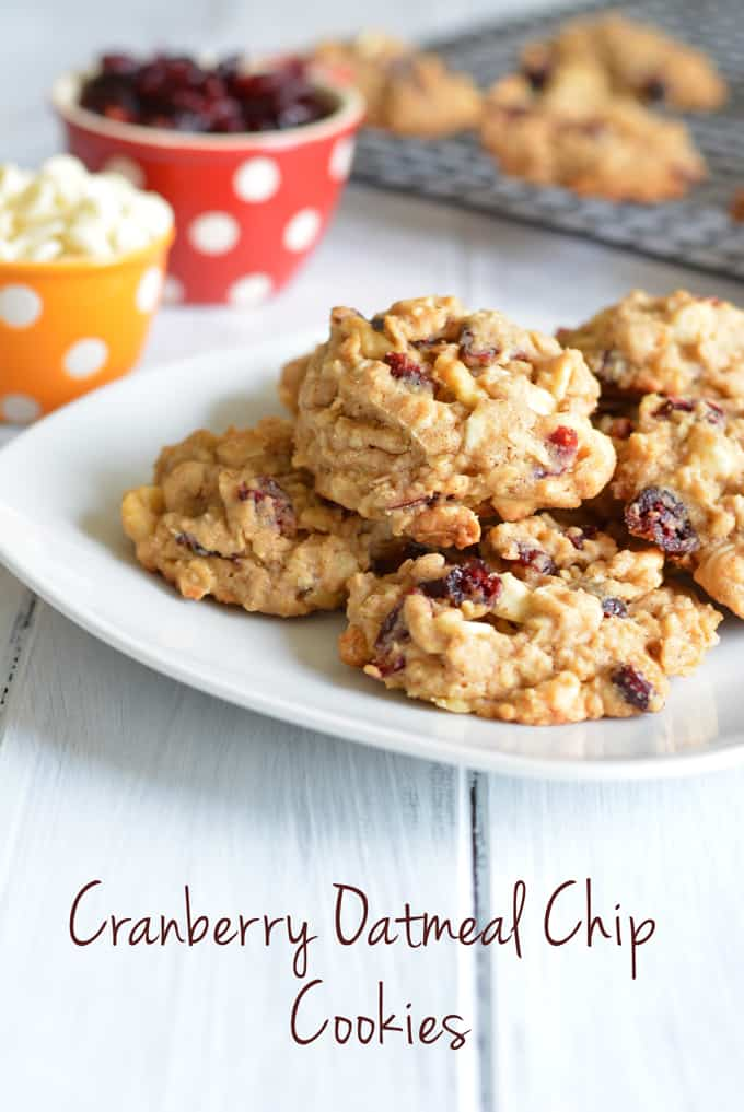 Cranberry Oatmeal Chip Cookies