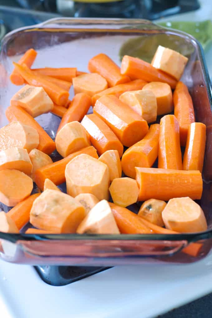 Roasted Carrots and Sweet Potato