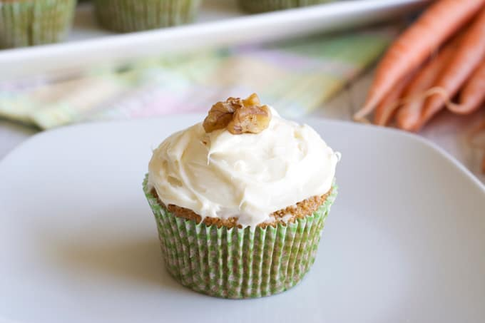 Whole Wheat Carrot Cupcakes