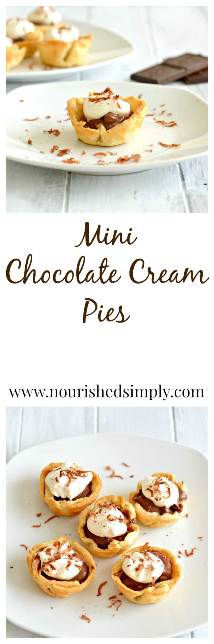 Mini Chocolate Cream Pies a sweet treat without all the guilt.