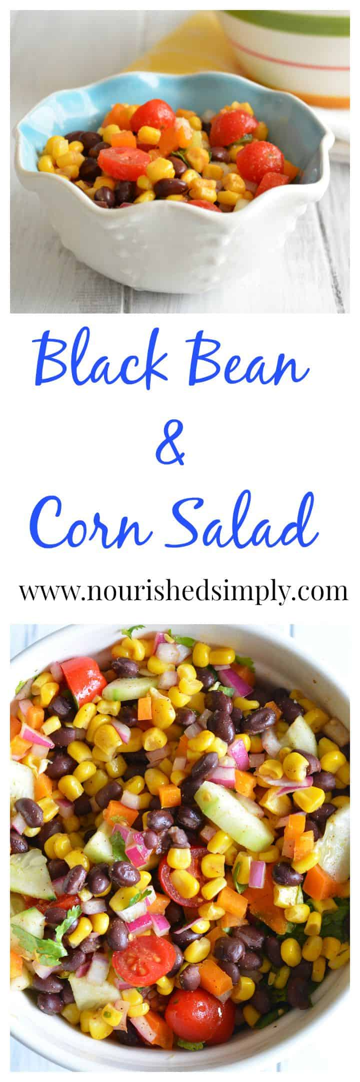Easy Black Bean and Corn Salad - great way to use leftovers. Ready in minutes!