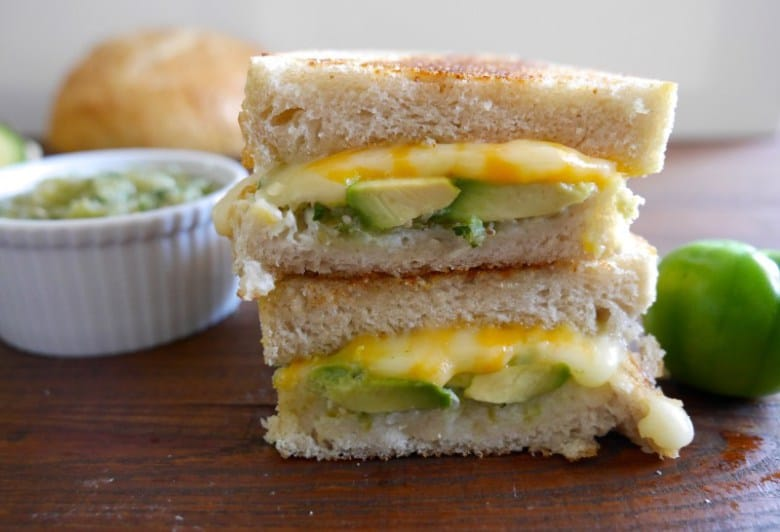 grilled cheese and tomatillo