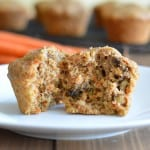 Carrot muffins will remind you of carrot cake, but great for breakfast without the extra sugar and icing.