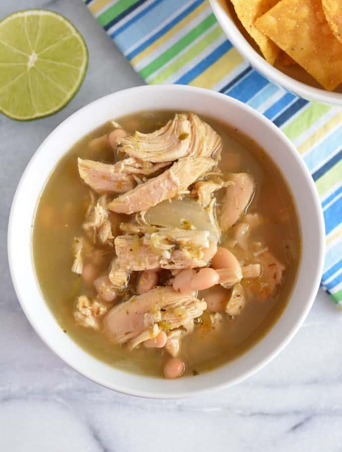 Slow Cooker Chicken Verde Chili