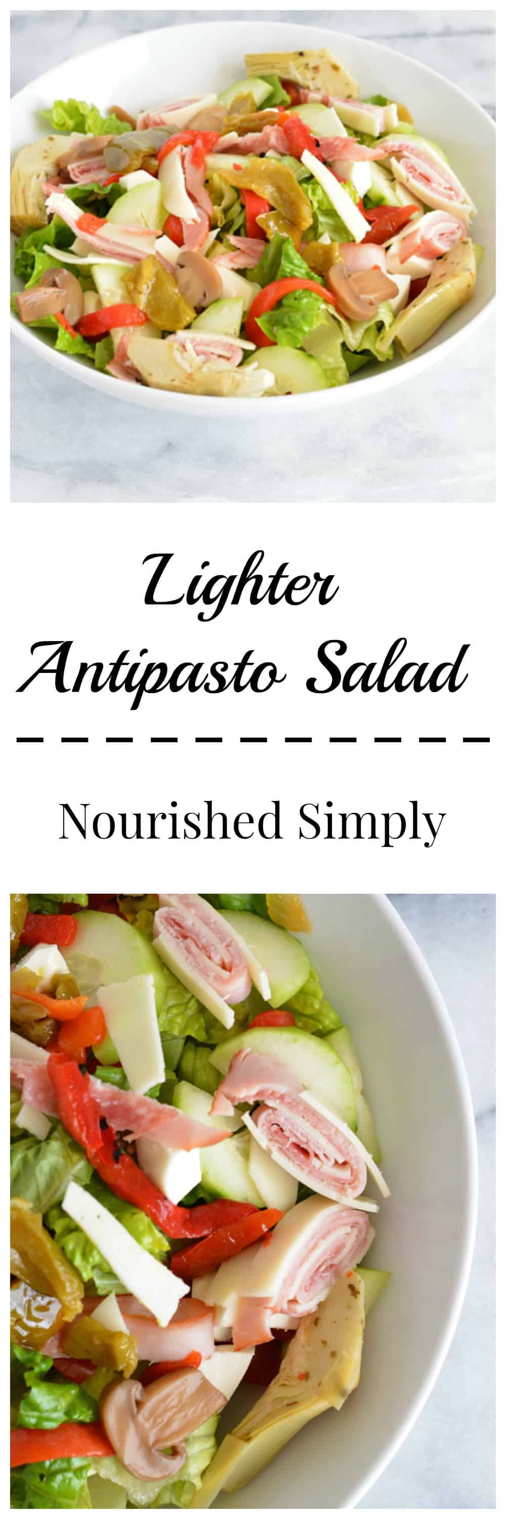A lower calorie version of antipasto salad with the same great flavors.