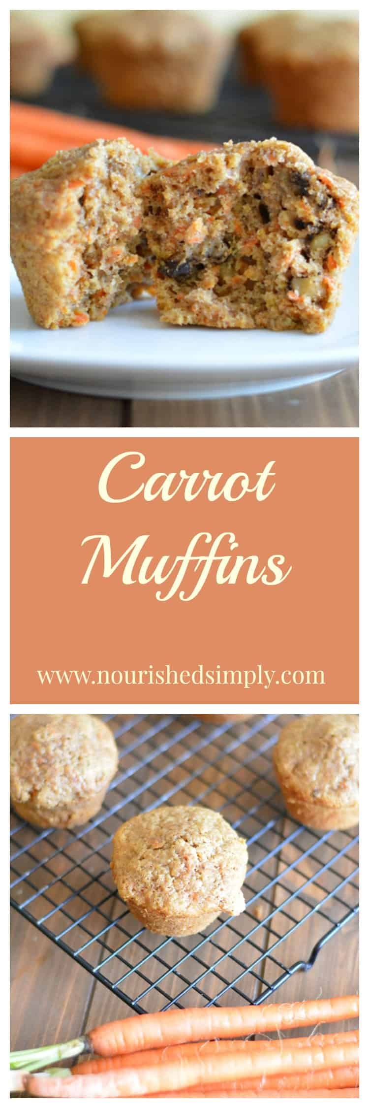 Carrot Muffins are a great breakfast choice that will remind you of carrot cake.