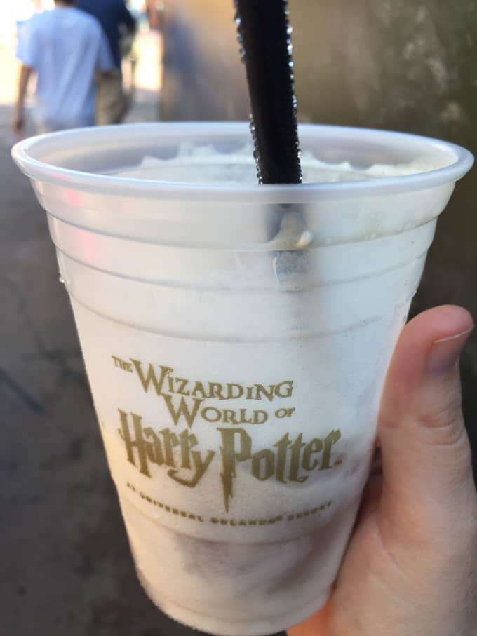 Cup of Butterbeer from Universal Studios