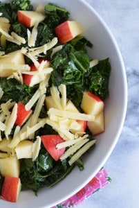 Kale and Apple Salad with Dijon Vinaigrette