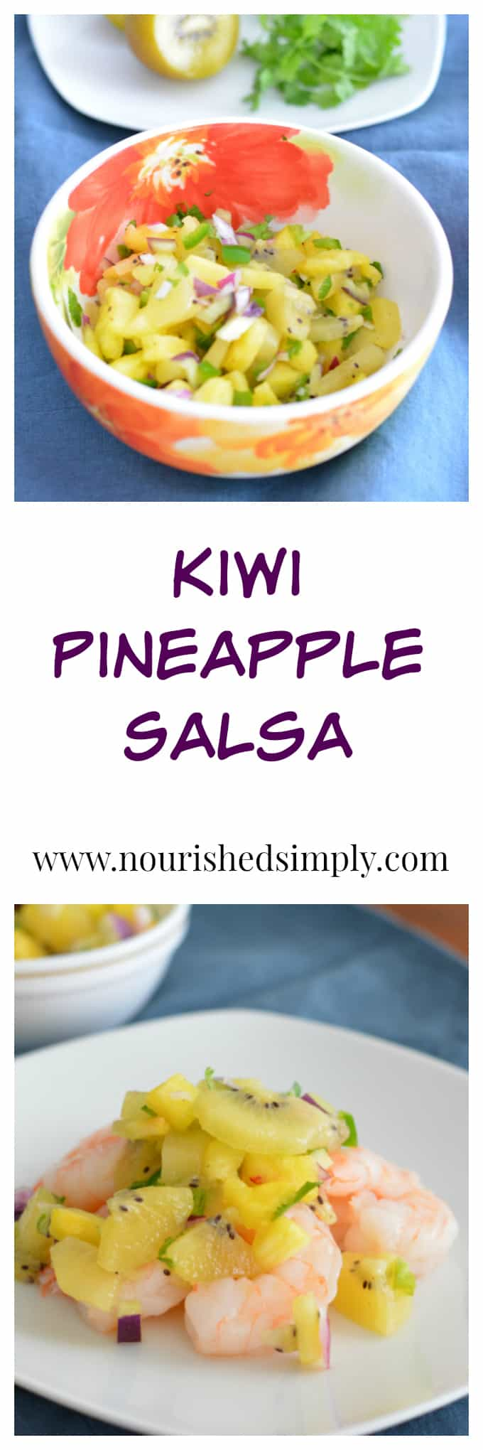 Kiwi Pineapple Salsa made with @zespri Sungold kiwi fruit is a great compliment to any protein. Works well with most shrimp, chicken, pork, or fish recipes.