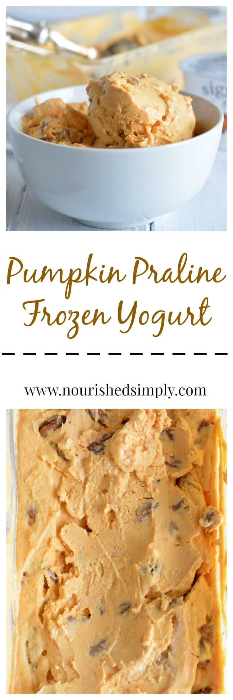 Pumpkin Praline Frozen Yogurt