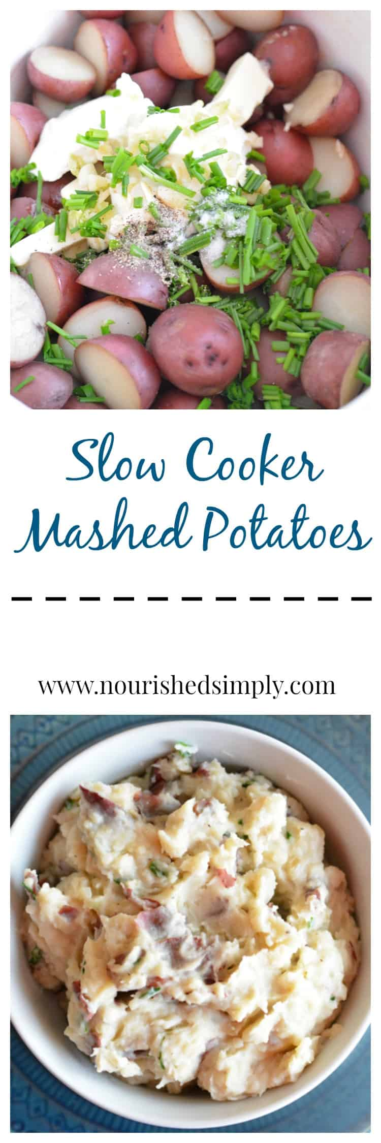 Slow cooker Mashed Potato Collage