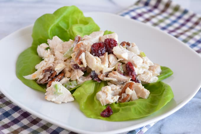Cranberry Chicken Salad is a perfect dish for a lunch time holiday party