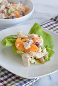 Summer chicken salad doesn't need to be eaten in summer only. Enjoy this fruit loaded chicken salad anytime.