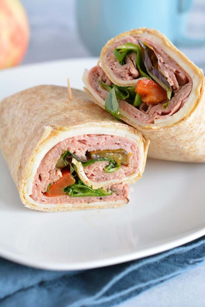 Roast Beef Italiano Wrap uses Sabra Spreads, a lower calorie spread that contains 75% less fat and 1 gram of protein.