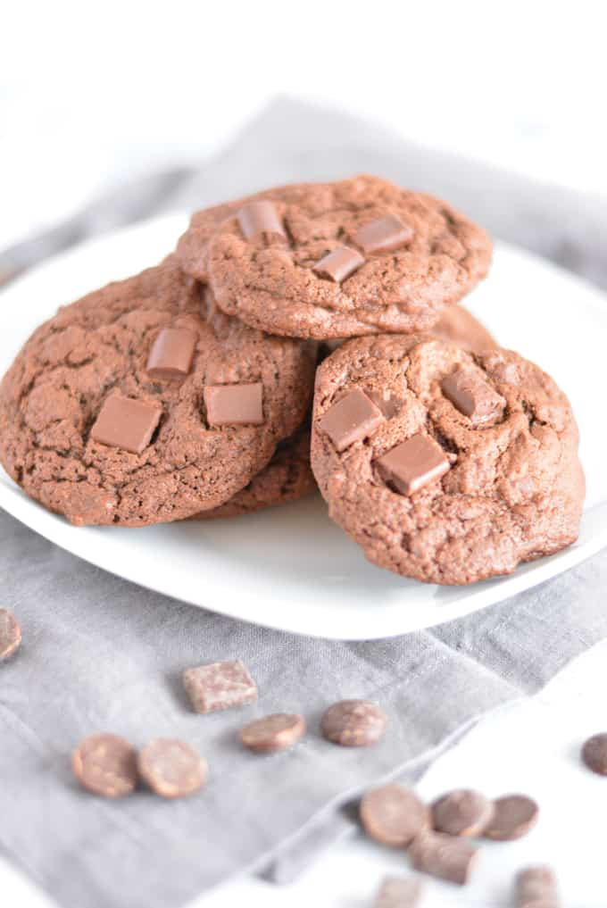 Half Batch Triple Chocolate Cookies lets you enjoy just a few cookies without having dozens laying around.