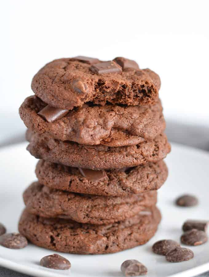 Half Batch Triple Chocolate Cookies