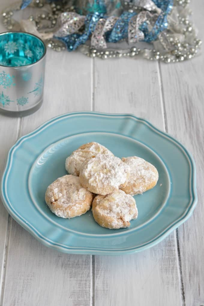 This simple ingredient crescent cookie recipe is lower in sugar than most cookies. Perfect for this holiday season.