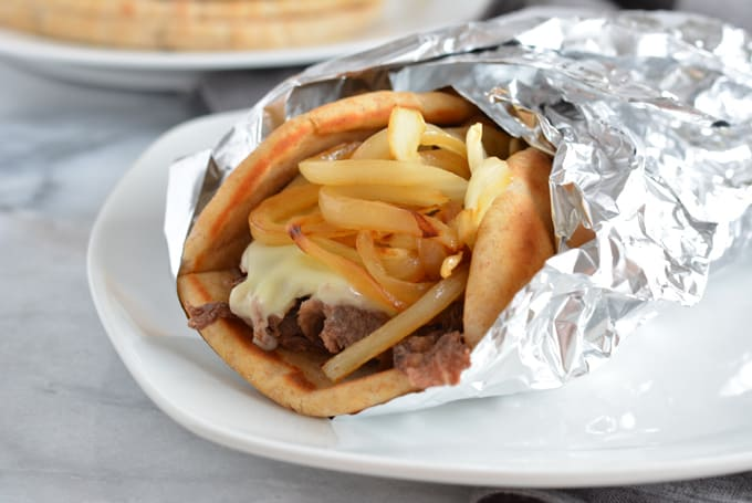 Classic Philly Cheese Steak Pita Sandwich gives you less total carbs than the traditional roll.