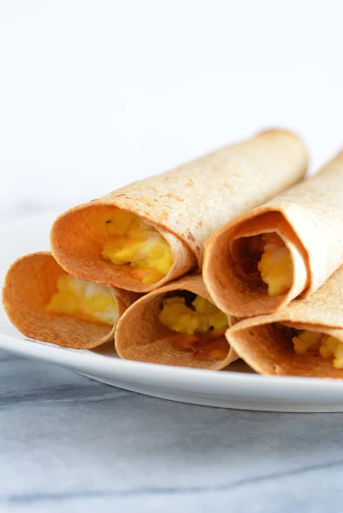 Ham & Cheese breakfast taquito is a great grab and go breakfast.