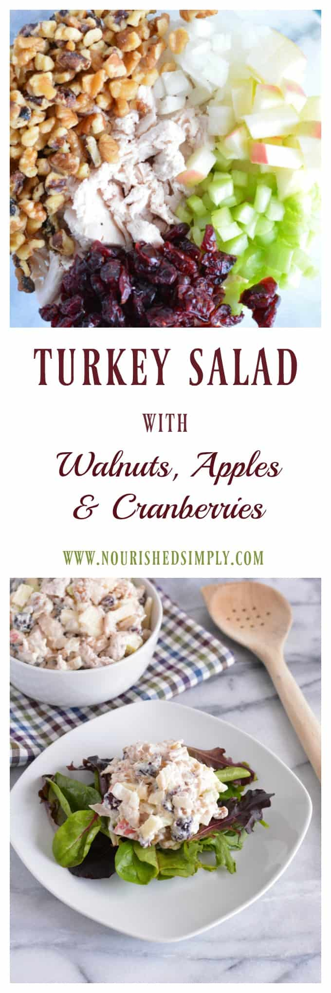 Use up leftover turkey with the Protein Packed Turkey Salad. Perfect meal to help meet your macros. #turkey #leftovers #thanksgiving #holiday #christmas #salad #macros