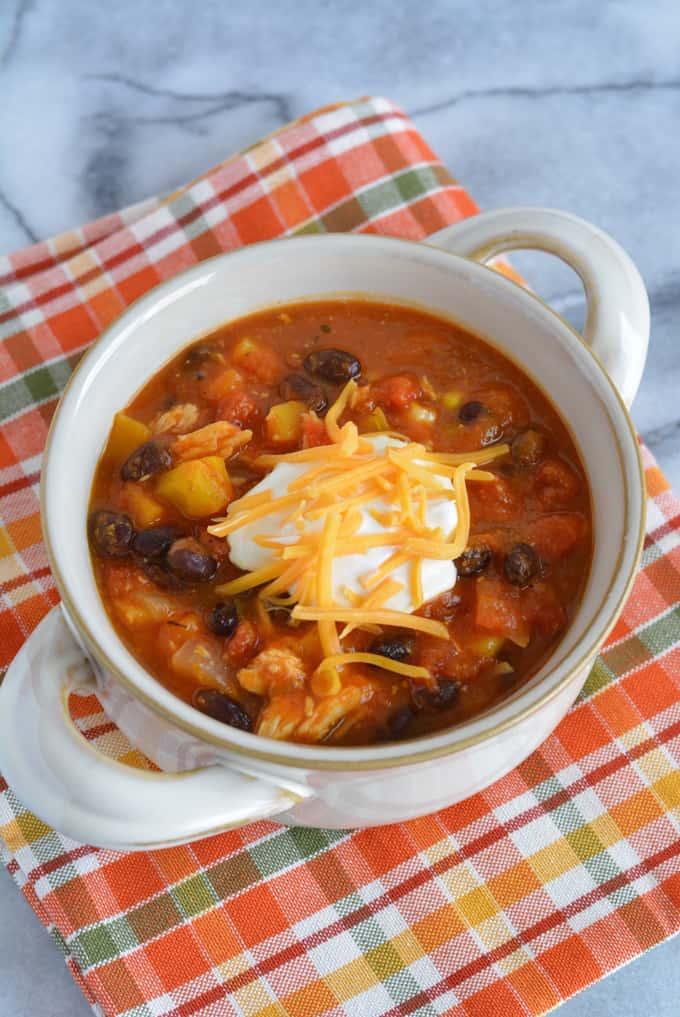 Leftover Turkey & Pumpkin Chili