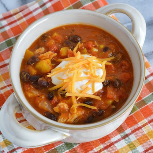 Leftover Turkey & Pumpkin Chili