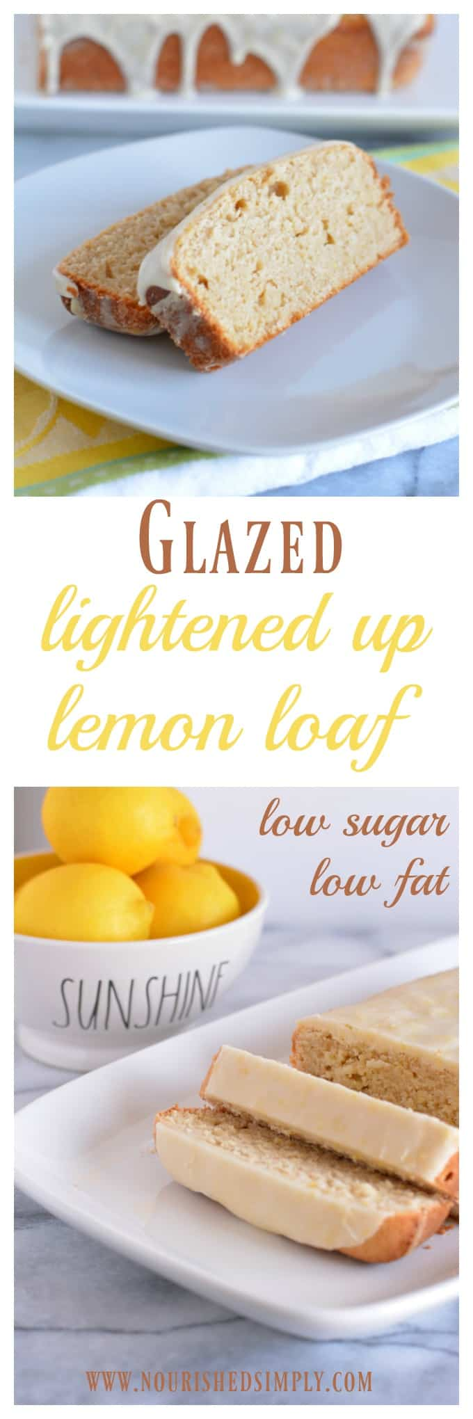 #AD A healthier version of the classic glazed lemon loaf. This recipe is lower in fat and cholesterol. This low sugar glazed lemon loaf contains less than 2 grams of sugar. #lowsugar #dessert  #thereciperedux @swerve