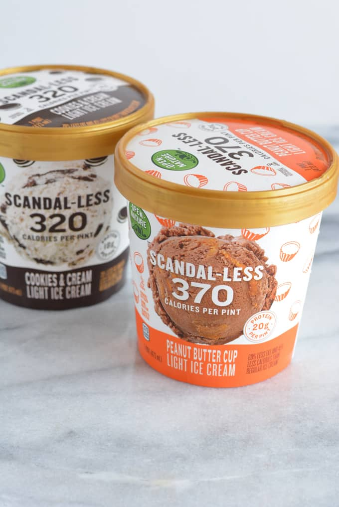 Scandal-less ice cream containers