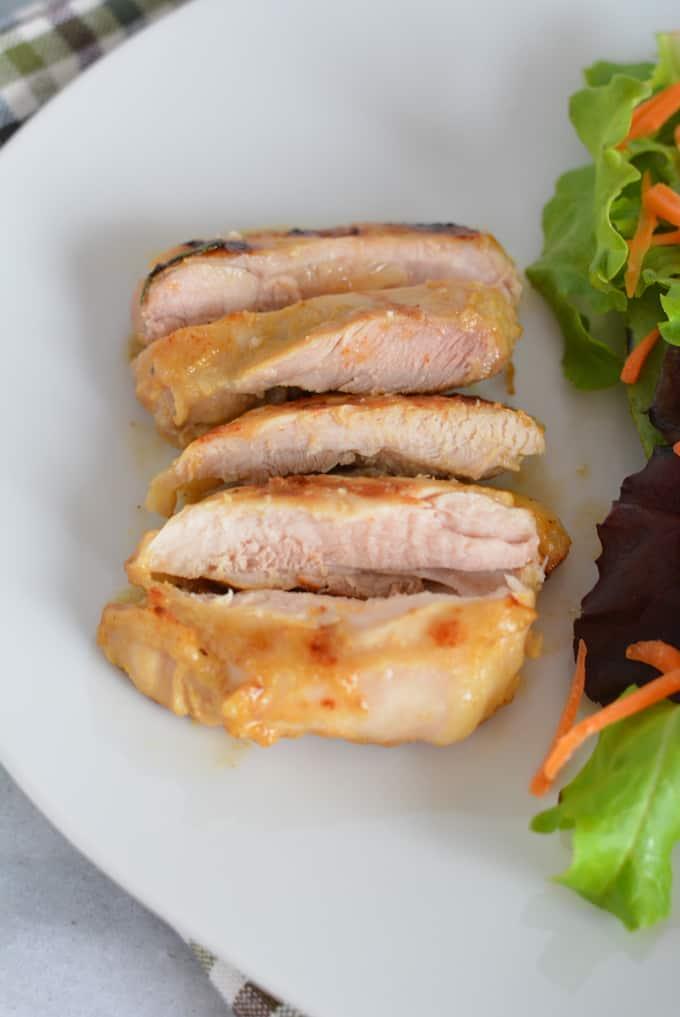 Grilled Maple Dijon Chicken Thighs Sliced